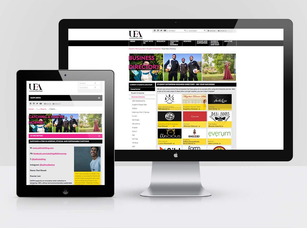 UEA Enterprise Website Optimisation