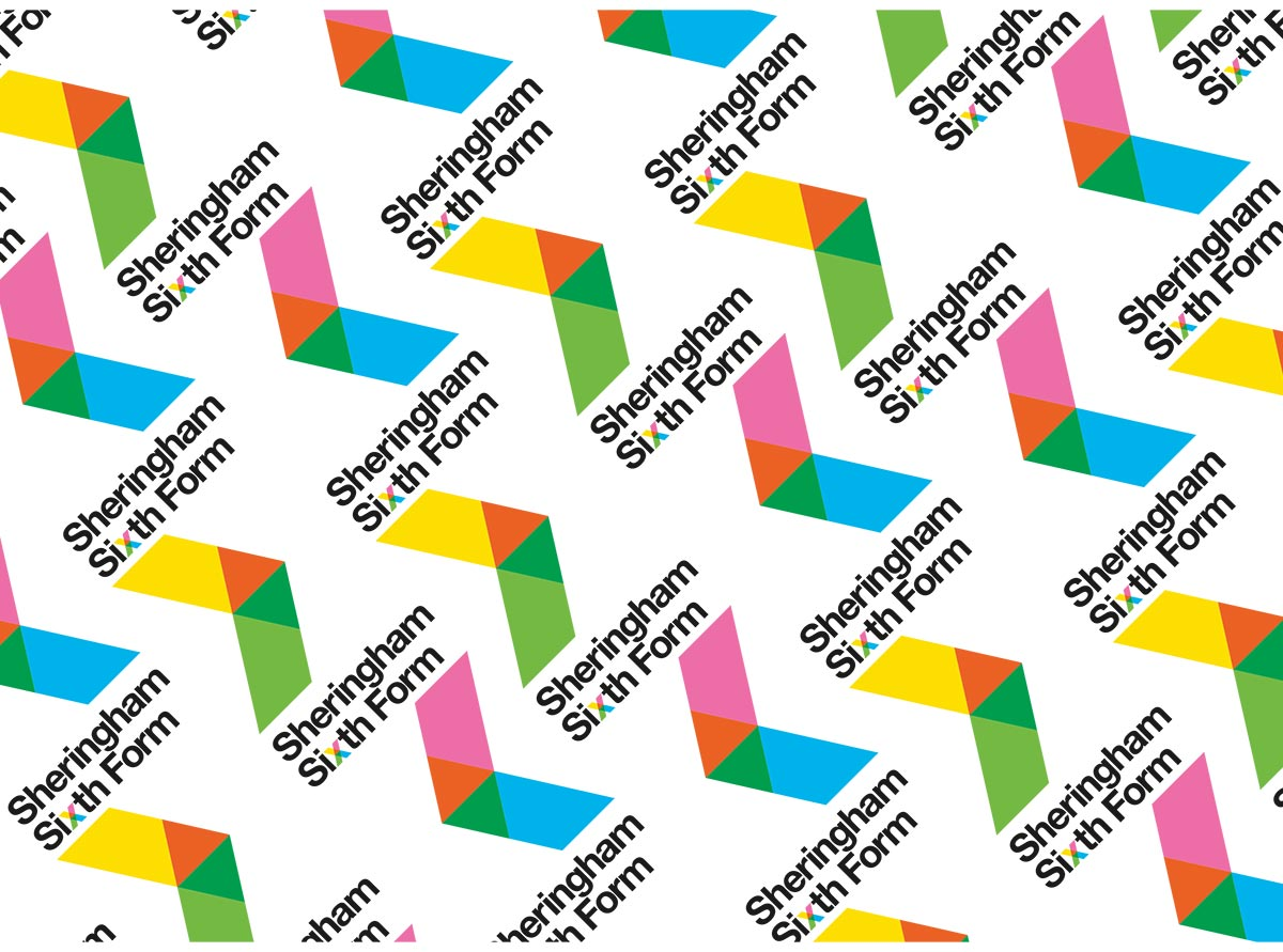 Sheringham Sixth Form Branding - Repeating Pattern