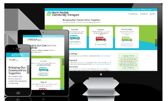 Responsive website for North Norfolk Community Transport